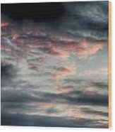 Rosy Clouds Wood Print