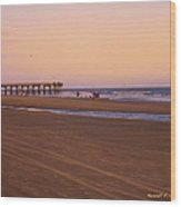 Rosy Evening At Isle Of Palms Wood Print