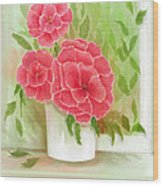 Rosy Pink Pedals Wood Print