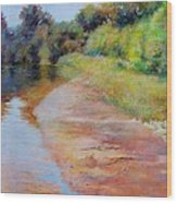 Rosy River Wood Print