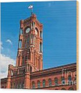 Rotes Rathaus The Town Hall Of Berlin Germany Wood Print