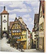 Rothenburg Marketplatz Wood Print