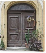 Rothenburg Ob Der Tauber Door  Wood Print