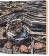 Rotted Railroad Tie Wood Print