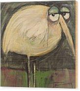 Rotund Bird Wood Print