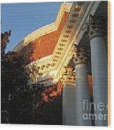 Rotunda At The University Of Virginia Wood Print