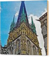Rouen Church Steeple Wood Print