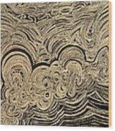 Rough Sea Wood Print