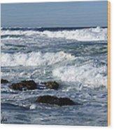 Rough Seas Wood Print