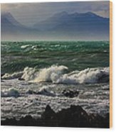 Rough Seas Kaikoura New Zealand Wood Print