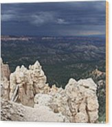 Rough Skys Over Bryce Canyon Wood Print