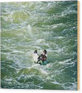 Rough Water Wood Print