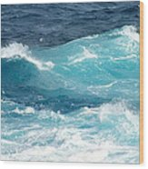 Rough Waves 1 Offshore Wood Print