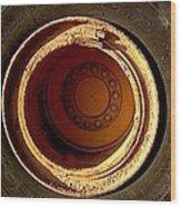 Round And Round Wood Print by Marlene Burns