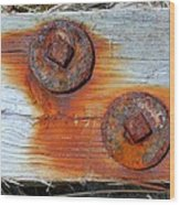 Round And Rusted Wood Print