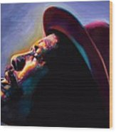 Round Midnight Thelonious Monk Wood Print