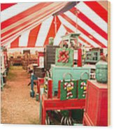 Round Top Texas Under The Big Tent Wood Print