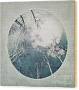 round treetops III Wood Print