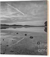 Round Valley Sunburst Bw  Wood Print