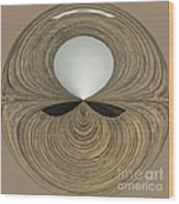 Round Wood Wood Print by Anne Gilbert