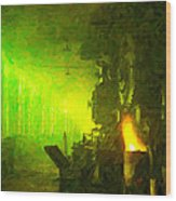 Roundhouse Morning Wood Print