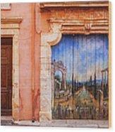 Roussillon Door Wood Print