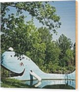 Route 66 Blue Whale Waterpark Wood Print