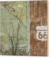 Route 66 Brick And Mortar Wood Print