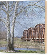 Route 66 Bridge Wood Print