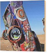 Route 66 Cadillac Ranch Wood Print