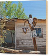 Route 66 Carcus Wood Print