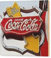 Route 66 Coca Cola Wood Print