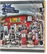 Route 66 Collage Wood Print