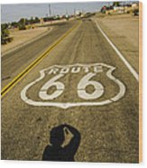 Route 66 Daggett California Wood Print