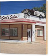 Route 66 - Desoto's Salon Wood Print