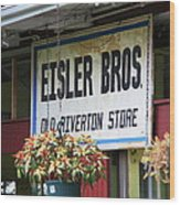 Route 66 - Eisler Brothers Old Riverton Store Wood Print