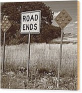 Route 66 - End Of The Road Wood Print