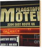 Route 66 Flagstaff Motel Wood Print