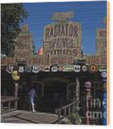Route 66 Gift Shop Disneyland Wood Print
