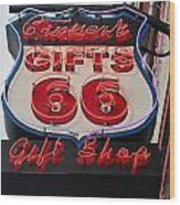 Route 66 Gifts Wood Print