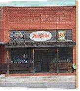 Route 66 - Hardware Store Erick Oklahoma Wood Print