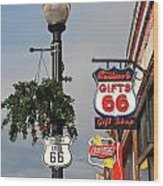 Route 66 In Williams Arizona Wood Print