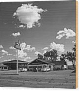 Route 66 - Midpoint Cafe Adrian Texas Wood Print