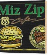 Route 66 Miz Zips Wood Print