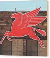 Route 66 - Mobil Pegasus Wood Print