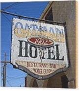 Route 66 - Oatman Hotel Wood Print