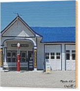 Route 66 Odell Il Gas Station 01 Wood Print