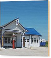 Route 66 Odell Il Gas Station 02 Wood Print