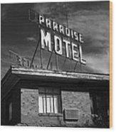 Route 66 - Paradise Motel 2 Wood Print
