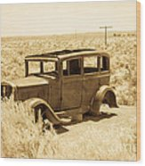 Route 66 Relic Wood Print